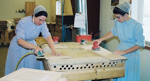 Amish Sanding Cabinet Doors
